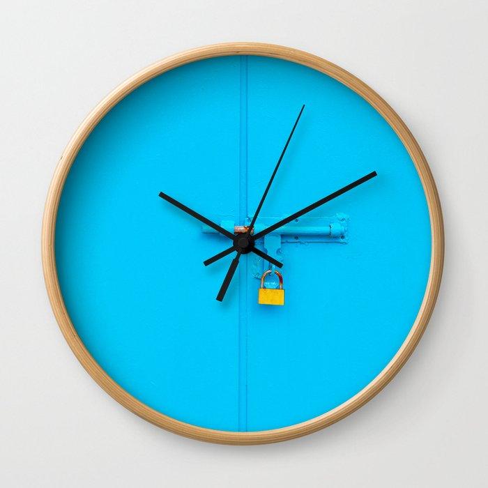 Blue Gate, Copper Lock Wall Clock