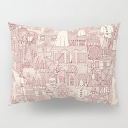 vintage halloween claret ivory Pillow Sham