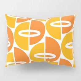 Mid Century Modern Orange Gold Pillow Sham