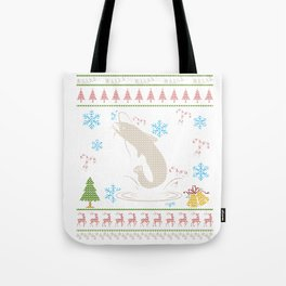 Catfish Fishing Christmas Ugly Holiday Shirt Tote Bag