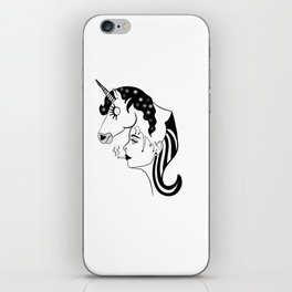 Unicorn girl iPhone Skin