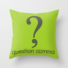 Question Comma Throw Pillow