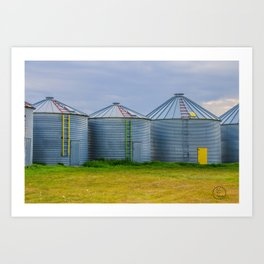 Grain Bins 4 Art Print