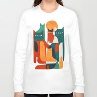 family Long Sleeve T-shirts featuring Cat Family by Picomodi