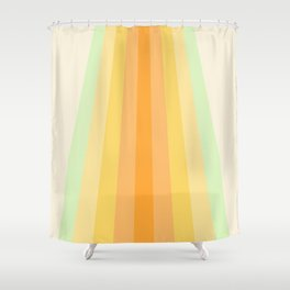 Tropical Palette Retro Stripes Shower Curtain