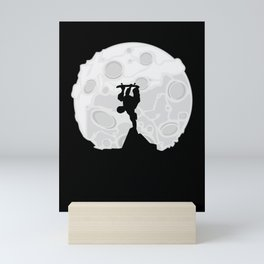 Skater Moon Mini Art Print