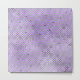 Purple Mermaid Scales Metal Print