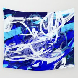 Blue & White Abstract Wall Tapestry