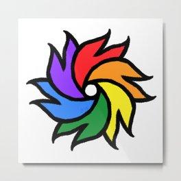 Rainbow Pride Pinwheel Metal Print