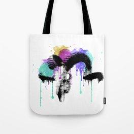 watercolor ram skull Tote Bag