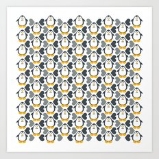 NGWINI - penguin love pattern 4 Art Print