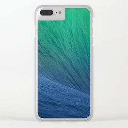 sea wave water blue Clear iPhone Case