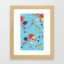 Floating Flowers Framed Art Print