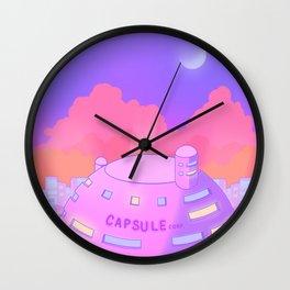 Pastel Capsule Corp Wall Clock