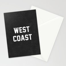 West Coast - black version Stationery Cards