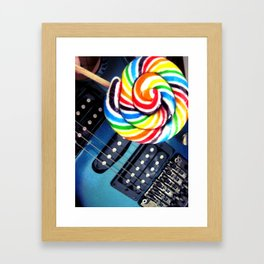 Lollipop Guitar Framed Art Print