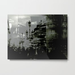 1st arrondissement-gray Metal Print