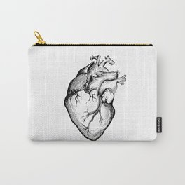 Heart Black and White Carry-All Pouch