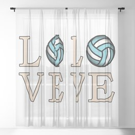 Volleyball love Sheer Curtain