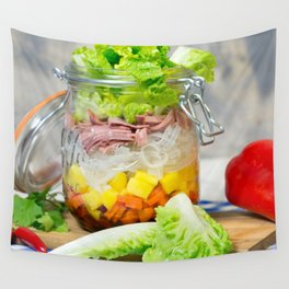 Lunch in a glass Wall Tapestry