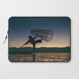 Burmese Fisherman Laptop Sleeve