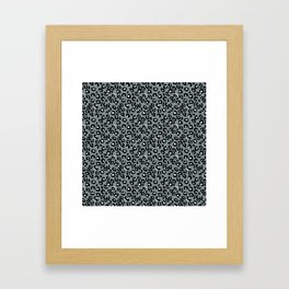 Grey and Black Leopard Spots Animal Print Pattern Framed Art Print