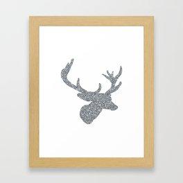 Silver Deer Framed Art Print