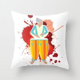 Conga Player Musician Musical Instrument Art Throw Pillow