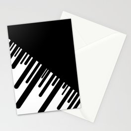 Black and White Meteor Shower Stationery Cards