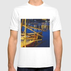 Night in the Harbour Mens Fitted Tee White MEDIUM