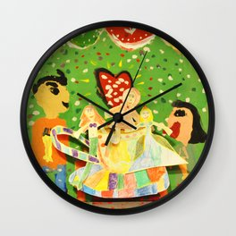 The cup of Rosalia | Full of fairy tales | Painting by Elisavet Wall Clock
