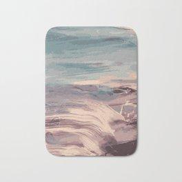 Abstract Sunset Beach Waves Bath Mat