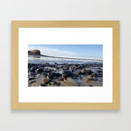 Where the River Meets the Sea Framed Art Print