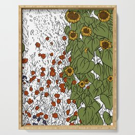 Great Prairie with Sunflowers Serving Tray