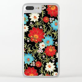 Art Flowers V6 Clear iPhone Case