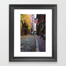 Acorn street Framed Art Print