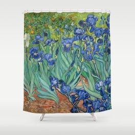 Irises by Vincent Van Gogh, 1889 Shower Curtain