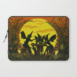 """Halloween witches floor mat """"Reading the tea leaves..."""" Laptop Sleeve"""
