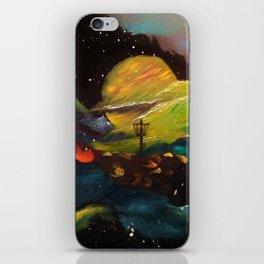 Galaxy Discing iPhone Skin