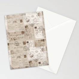 Old Letters Vintage Collage Stationery Cards