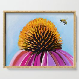 Bee and Coneflower Serving Tray