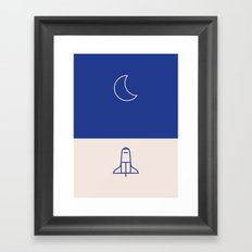 To Moon Framed Art Print