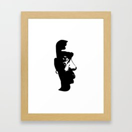 BLACK AND ART ARE BEAUTIFUL Framed Art Print