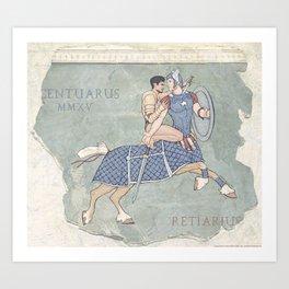 Centaurus and Retiarius Art Print
