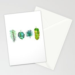 Four Tropical Leaves Stationery Cards