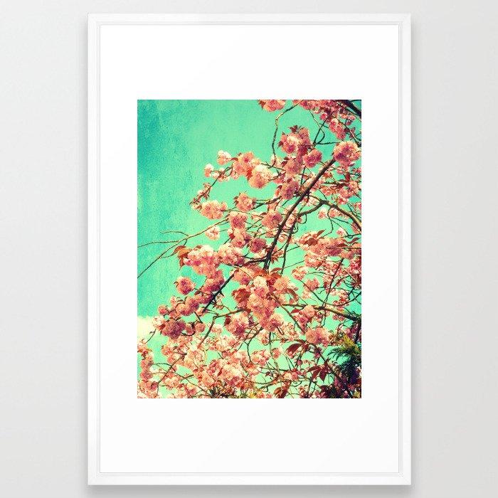 vintage Cherry blossoms  Framed Art Print