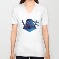 leonardo V-neck T-shirts featuring Leonardo Forever by Ian Wilding