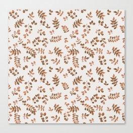 falling leaves pattern Canvas Print