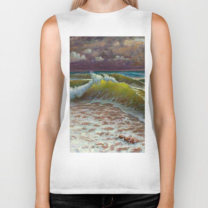 wild waves Biker Tank