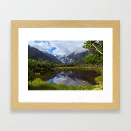 View on Fox Glacier. West Coast, New Zealand Framed Art Print